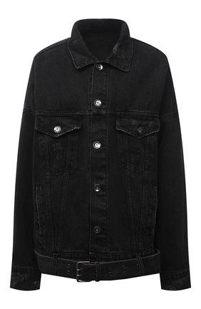 Женская джинсовая куртка DANIILBERG черного цвета, арт. DJ002 | Фото 1