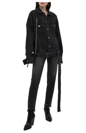 Женская джинсовая куртка DANIILBERG черного цвета, арт. DJ002 | Фото 2