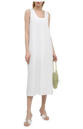 Женское хлопковое платье EVA B.BITZER белого цвета, арт. 11311998   Фото 2
