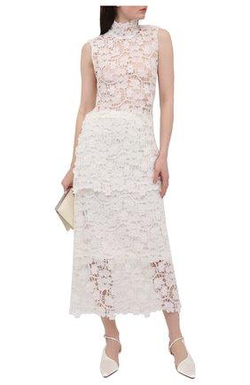 Женская юбка JIL SANDER белого цвета, арт. JSWS728306-WS447008A   Фото 2