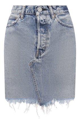 Женская джинсовая юбка MOUSSY голубого цвета, арт. 025ESC11-2710 | Фото 1