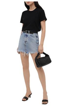 Женская джинсовая юбка MOUSSY голубого цвета, арт. 025ESC11-2710 | Фото 2