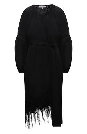 Женская хлопковая туника LILA EUGENIE черного цвета, арт. 2121 | Фото 1