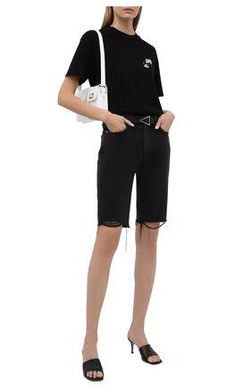 Женские джинсовые шорты PAIGE черного цвета, арт. 6994G82-2554 | Фото 2
