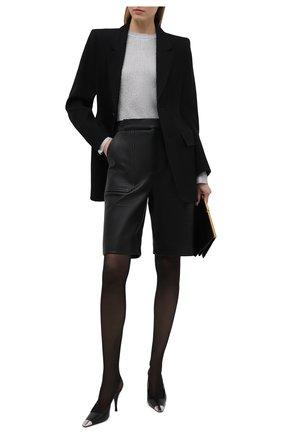 Женские кожаные туфли blade SAINT LAURENT черного цвета, арт. 658095/AKPNN | Фото 2 (Каблук тип: Шпилька; Материал внутренний: Натуральная кожа; Подошва: Плоская; Каблук высота: Высокий)