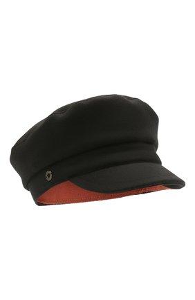 Женская кепка из шерсти и кашемира LORO PIANA черного цвета, арт. FAL8321 | Фото 1 (Материал: Шерсть)