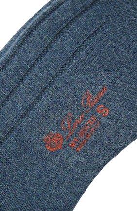 Женские кашемировые носки LORO PIANA синего цвета, арт. FAF8553 | Фото 2