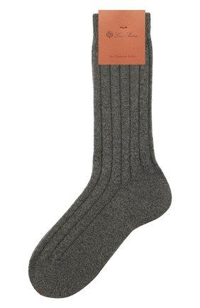 Женские кашемировые носки LORO PIANA серого цвета, арт. FAF8553 | Фото 1