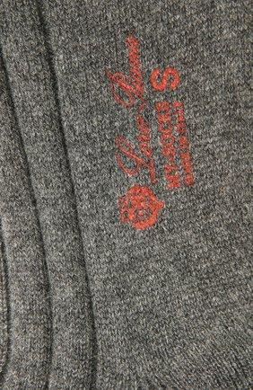 Женские кашемировые носки LORO PIANA серого цвета, арт. FAF8553 | Фото 2
