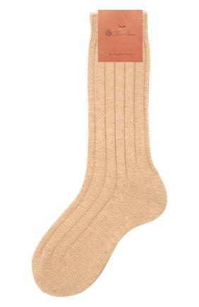 Женские кашемировые носки LORO PIANA бежевого цвета, арт. FAF8553 | Фото 1