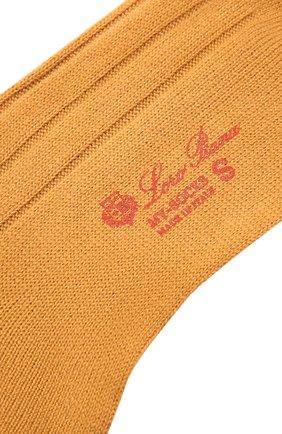Женские кашемировые носки LORO PIANA желтого цвета, арт. FAF8553 | Фото 2