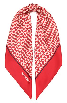 Женский шелковый платок  VALENTINO красного цвета, арт. WW2EI114/TXR | Фото 1