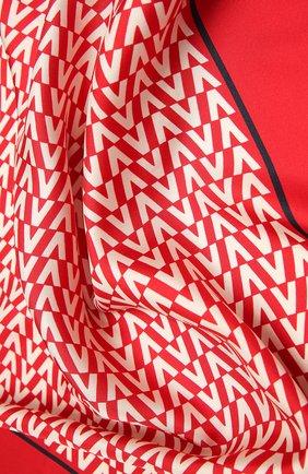 Женский шелковый платок  VALENTINO красного цвета, арт. WW2EI114/TXR | Фото 2