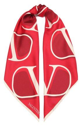 Женский шелковый платок  VALENTINO красного цвета, арт. WW2EI114/HLN | Фото 1