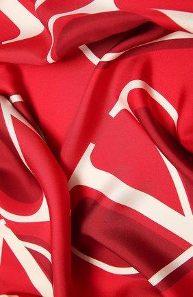 Женский шелковый платок  VALENTINO красного цвета, арт. WW2EI114/HLN | Фото 2