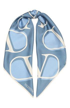 Женский шелковый платок  VALENTINO голубого цвета, арт. WW2EI114/HLN | Фото 1