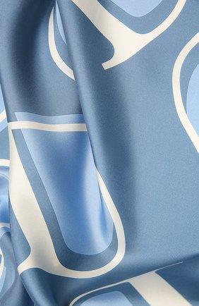Женский шелковый платок  VALENTINO голубого цвета, арт. WW2EI114/HLN | Фото 2