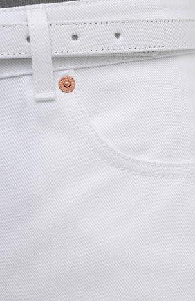Женские джинсовые шорты VALENTINO белого цвета, арт. WB3DD11X6FK | Фото 5 (Женское Кросс-КТ: Шорты-одежда; Кросс-КТ: Деним; Длина Ж (юбки, платья, шорты): Мини; Материал внешний: Хлопок; Стили: Кэжуэл)