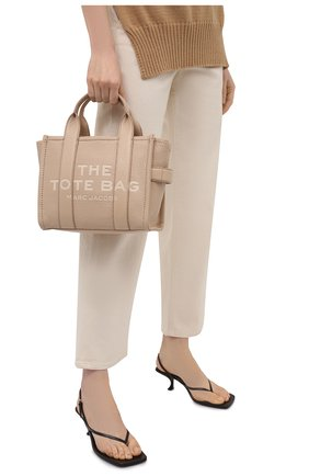 Женская сумка-тоут traveller mini MARC JACOBS (THE) бежевого цвета, арт. H009L01SP21   Фото 2