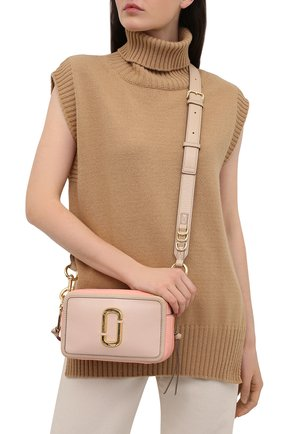 Женская сумка the softshot 21 MARC JACOBS (THE) розового цвета, арт. H109L01SP21   Фото 2