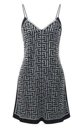 Женское платье BALMAIN черно-белого цвета, арт. VF0R2000/P084 | Фото 1