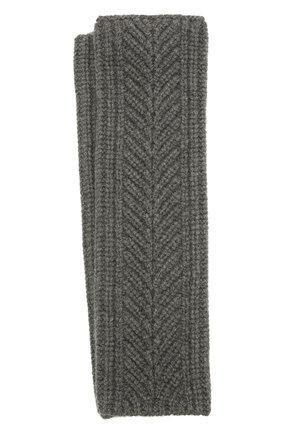 Женские кашемировые перчатки LORO PIANA серого цвета, арт. FAL8097 | Фото 1 (Материал: Шерсть, Кашемир)
