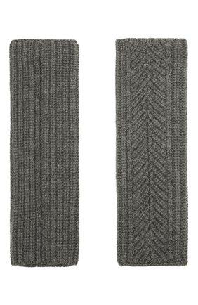Женские кашемировые перчатки LORO PIANA серого цвета, арт. FAL8097 | Фото 2 (Материал: Шерсть, Кашемир)