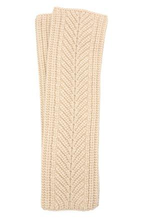 Женские кашемировые перчатки LORO PIANA светло-бежевого цвета, арт. FAL8097 | Фото 1