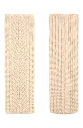 Женские кашемировые перчатки LORO PIANA светло-бежевого цвета, арт. FAL8097 | Фото 2