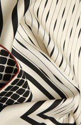 Женская шелковая шаль LORO PIANA черно-белого цвета, арт. FAL7965   Фото 2
