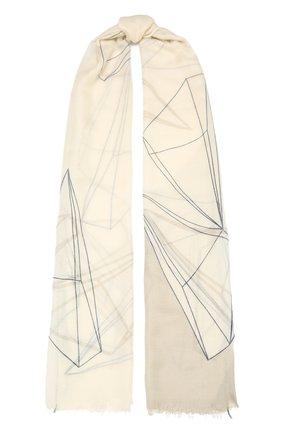 Женская палантин из смеси кашемира и шелка LORO PIANA серого цвета, арт. FAL7681 | Фото 1 (Материал: Шерсть, Текстиль, Кашемир)