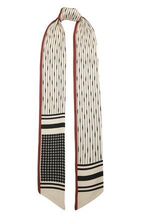 Женская шелковая повязка на голову LORO PIANA бежевого цвета, арт. FAL7630 | Фото 1