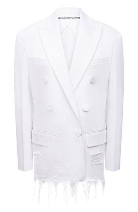 Женский джинсовый жакет ALEXANDER WANG белого цвета, арт. 1WC2212263   Фото 1