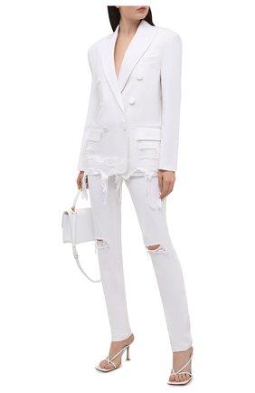 Женский джинсовый жакет ALEXANDER WANG белого цвета, арт. 1WC2212263   Фото 2