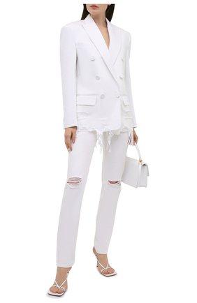 Женские джинсы DENIM X ALEXANDER WANG белого цвета, арт. 4DC2214928   Фото 2