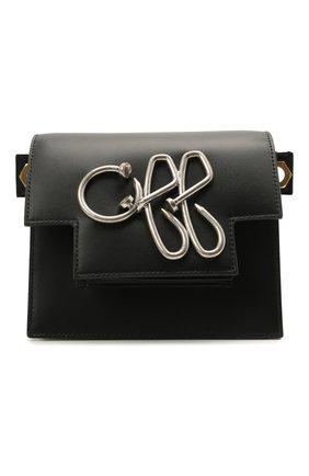 Женская сумка off OFF-WHITE черного цвета, арт. 0WNN003S21LEA002 | Фото 1