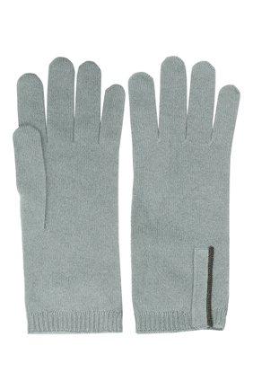 Женские кашемировые перчатки BRUNELLO CUCINELLI мятного цвета, арт. M12147189P | Фото 2