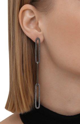 Женские серьги BRUNELLO CUCINELLI серебряного цвета, арт. M0RW9V015P   Фото 2