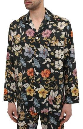 Мужская хлопковая пижама ROBERTO RICETTI разноцветного цвета, арт. PIGIAMA VENEZIA LUNG0/0R02606 | Фото 2 (Длина (для топов): Стандартные; Длина (брюки, джинсы): Стандартные; Материал внешний: Хлопок; Рукава: Длинные; Кросс-КТ: домашняя одежда)
