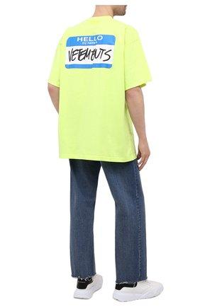 Мужская хлопковая футболка VETEMENTS светло-зеленого цвета, арт. UA52TR330Y 1602/M | Фото 2
