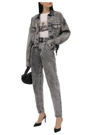 Женская джинсовая куртка DANIILBERG серого цвета, арт. DJ004 | Фото 2
