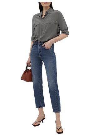 Женская шелковая рубашка BOSS темно-зеленого цвета, арт. 50447798   Фото 2