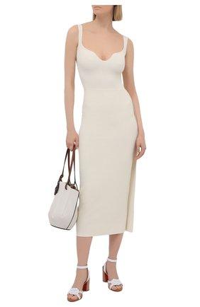 Женские кожаные босоножки ella 85 CHRISTIAN LOUBOUTIN белого цвета, арт. 1210549/ELLA 85   Фото 2