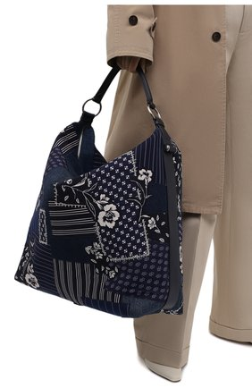 Женский сумка-шопер RALPH LAUREN синего цвета, арт. 435844723 | Фото 2 (Материал: Текстиль; Сумки-технические: Сумки-шопперы; Размер: large)