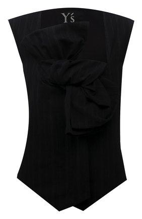 Женский жилет Y`S черного цвета, арт. YD-V01-010 | Фото 1