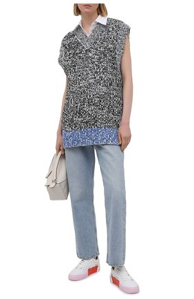 Женские текстильные кеды OFF-WHITE белого цвета, арт. 0WIA178S21FAB0010130 | Фото 2
