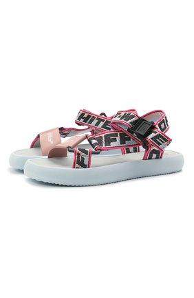 Женские текстильные сандалии OFF-WHITE розового цвета, арт. 0WIH007S21FAB0014230 | Фото 1