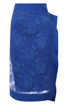 Женская хлопковая юбка KENZO синего цвета, арт. FB52JU1589DE   Фото 1