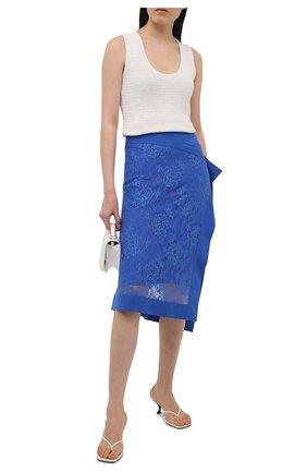Женская хлопковая юбка KENZO синего цвета, арт. FB52JU1589DE   Фото 2