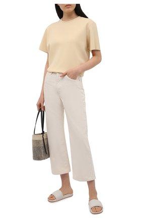 Женские кожаные шлепанцы AMBUSH белого цвета, арт. BWIC001S21LEA001 | Фото 2